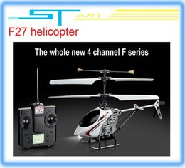 Wholesale Selling Radio Control Toys - Wholesale-F27 4ch metal mini helicopter remote control toys free shipping hot selling helicopter radio control toys helikopter