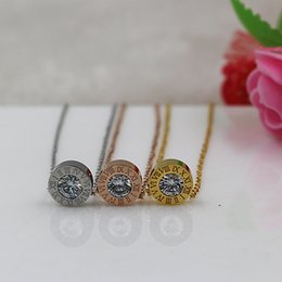 titanium steel luxury shine style necklace pendants fashion necklaces Fashion Jewelry Necklaces & Pendants chain necklace women