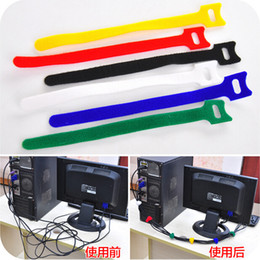 10pcs lot Free shipping nylon magic band headset line Earphone cable organizador Cable Organizer for Iphone headphones JF3