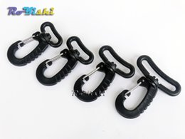 Wholesale Plastic Swivel Snap Hook For Backpack Belt Strap Buckle Keychain Black