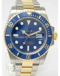 Wholesale Top quality Luxury Sapphire Ceramic mm Datum Date Bezel Blue Dial Automatic Sport Mens Watch Men s Wrist Watches