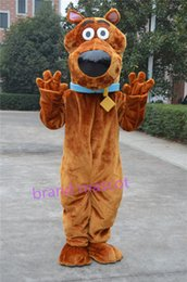 Wholesale The most popular Christmas Halloween Scooby Doo cartoon costumes for Halloween party supplies adult size mascot