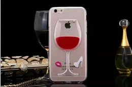 Red Wine Cup Liquid Transparent Case For Apple iPhone 4 4S 5C 5 5S 6 6S 6 Plus Soft TPU Phone Cases