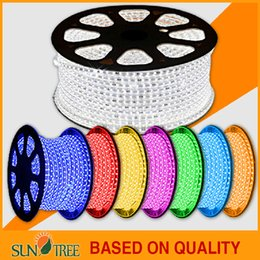Wholesale high voltage V V led strips waterproof SMD5050 meter high brightness led strip IP68 with copper wire