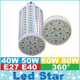 Wholesale 2016 Super Bright W W W W Led Bulbs E27 E40 SMD Led Corn Lights Angle Led Pendant Lighting AC V