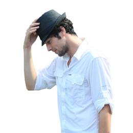 Wholesale-Shelikeit 2016 Fashion Men women Classic Felt Pork Pie fedora Hat Upturn Black Ribbon Band panama hats Freeshipping 38EW