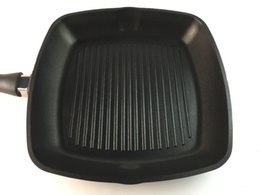 Wholesale Limited Edition Die Casting Grill Pan Aluminium Alloy Cookware Pot Induction Bottom Fried Pan in cm