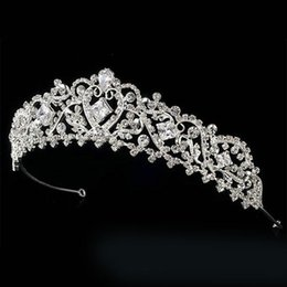 Wholesale Gorgeous Wedding Bridal Tiaras Couture Silver Swarovski Crystal Bridal and Quinceanera Tiara now at Affordable Elegance Bridal hair jewelry