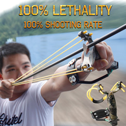 Wholesale Odepro Hunting Slingshot Mg Al Alloy Pocket Sling Shot Outdoor Accessories Powerful Catapult Target Shooting Bow For Game