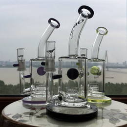 Wholesale TORO Glass Jet Perc Heavy Blue honeycomb Glass Bong bubbler water pipes heady oil rigs Water Pipes bongs dab rig purple percolator bubbler