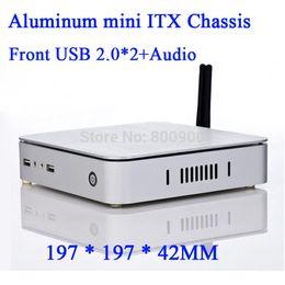 Wholesale ATOM D525 E450 Celeron U motherboard living room computer with aluminum mini ITX HTPC Chassis