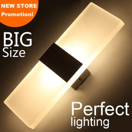 Wholesale New store promotion LED wall light living sitting room foyer bedroom bathroom modern wall sconce light square Acrylic LED wall lamp