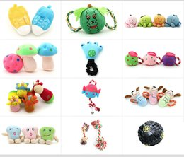 Wholesale Assorted Colors Mixed Sizes Plush Pet Toys Baby Dog Playing Cute sound when squeezed