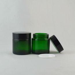50pieces lot High quality 50g green cream jar,cosmetic jar,glass jar or cream container,eye cream jar