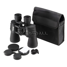 JINJULI 10x50WA Binoculars 10X Magnification Optical Telescope 133M x 1000M BAK4 Prism Roof Waterproof Telescope Binocular
