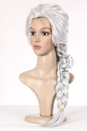 free shipping******Princess Snow Queen Elsa Cosplay Wig Silver Costume Wigs