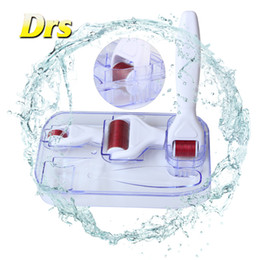 DRS 3 In 1 micro Needles Derma Rolling System Derma Skin Roller Dermatology Therapy System 100 pcs carton Free Shipping