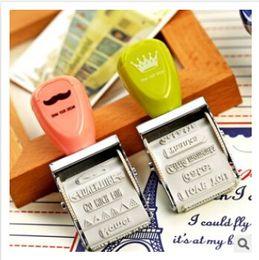 Wholesale 12 designs Crown Roller Stamp Vintage DIY stamp for Wedding Scrapbooking zakka carimbo deco material school supplies m0265