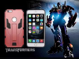 Wholesale fashion s case hybrid Transformers Autobots combo kickstand shockproof armor case cover skin for iPhone S Plus case