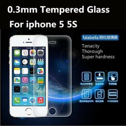 Alta calidad 2.5D 0.3mm LCD Screen Protector de vidrio templado de protección Film protector para Apple iPhone 5 5S 5G con Package desde fabricantes