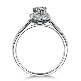 18k white gold plated 1ct sona Simulated diamond wedding ring sets for women,silver 926 ring sets, promise ring
