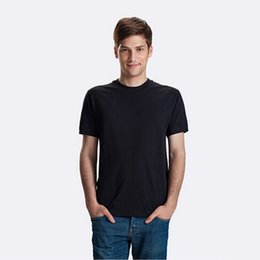 Wholesale White T shirt customizedPure color plain Men T shirts Custom shirts Logo g pure cotton short sleeve O neck T shirts Custom blank T shirts