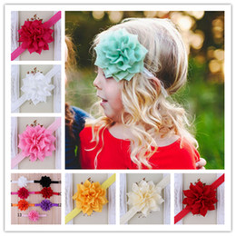 Elastic Baby Christmas Headbands Lovely Girl Lotus Flower Hairbands Children Hair Accessories Toddler Pointed Flower Hair band