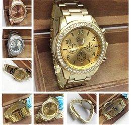 Los mejores relojes de moda de calidad en venta-Mejor relojes del acero inoxidable de la calidad del metal de cuarzo reloj de pulsera Para Cristal Relojes de Ginebra mujeres de los hombres de lujo