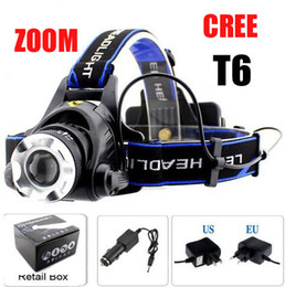 Ultrafire CREE XM-L T6 LED 2000Lumen Zoomable Headlight Bike Bicycle Light headlamp+2x Charger+Retail box
