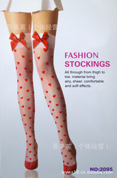 New Sexy Stockings Thigh Bone Screw Stockings Bow Stockings Heart Shaped Print Factory Wholesale Stock One-size-fits-all