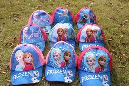 Wholesale 5styles frozen hat childrens cartoon ball cap kids baseball cap sun hat beanie hat baseball hat for boy girl high quality