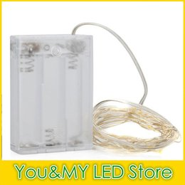 Edison2011 Free DHL 4.5V 10M Battery Operated Light LED Copper Wire String Fairy Lighting White Red Yellow Blue Green Christmas Decoration