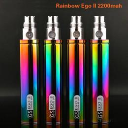 Torsion ii à vendre-100% d'origine Greensound GS EGO 2 Twist II arc 2200mAh batterie Tension réglable E-Cigarette EGO Pour Twist II Batteries Mods