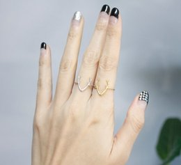 Band Rings Antler Animal Rings Women Simple Alloy Cute Horn Midi Ring Wedding ring Gold Silver Plated Adjustable Animal ring Antlers Jewelry