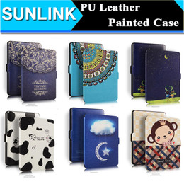 Wholesale Retro Vintage Print PU Leather Wallet Case for Amazon Kindle Paperwhite Folio Folding Cover for Kindle Paperwhite E Reader
