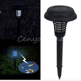 Solar UV backyard garden outdoor lawn Anti Insect Pest Bug Killer Zapper capture lantern light