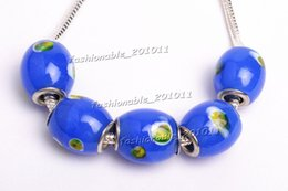 New Hot Sale Blue Murano glass Beads charms for Pandora bracelet Wholesale free shipping gb0053 Z