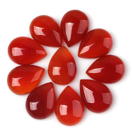 13x18mm Fashion Red Agate Natural Stone Water Drop Beads Cabochon Bead Jewelry Findings Accessories Diy Jewelry Making 20pcs