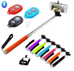 Selfie Stick 3 in 1 kit set Bluetooth Remote Shutter Clip Camera mobil phone Monopod For iPhone IOS Samsung Android with retail box