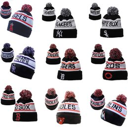 Wholesale New north American baseball league wool hats foreign trade jacquard thermal knitted hats women and men winter hats