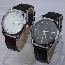 Wholesale New Fashion Luxury Watches Black Leather Bands Automatic Mens Watch Best Price Simple Design Waterproof Wristwatch