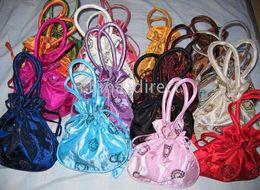 lots design color satin silk bag,Gift bags handbags tote bags purse coin bag,present bag 50pc lots