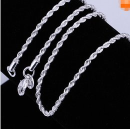 New High Quality Classic Jewelry Silver Chain best gift necklace 2mm Rope Chain 20pcs