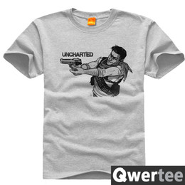 Wholesale New Arrival Game Uncharted Tshirt Uncharted4 Drake s Fortune Top Tees