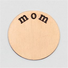 22.5MM mom plates for 30mm round locket 316L Stainless steel Silver Gold Rose gold plates for 30mm round locket(only plate)