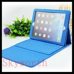 Wholesale Bluetooth Wireless Keyboard leather case for Ipad ipad air mini retina Tablet PC Stand colors