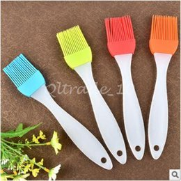 Wholesale 3000pcs CCA3053 High Quality Hot Silicone Basting Cooking Pastry Brush Kitchen Heat Resistance Silicone BBQ Brush Portable Kitchen Brushes