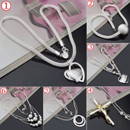 Wholesale HOT Top Quality Silver Pendant Necklaces For women Beautiful Christmas gift Charms Lady s Necklaces Pendants