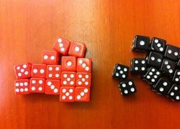 2015 NEW! 8*8*8MM ABS Playing card Poker Chips dice for Gambling Dice & Black,red