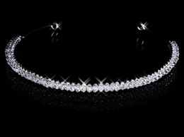 Free Shipping In Stock Cheap Magnetic 2019 Diamond Rhinestone Wedding Crown Hair Band Tiara Bridal Prom Jewelry 18021